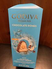 Godiva Belgium 1926 Chocolate Domes Milk Chocolate Coconut Crunch 15.6 Oz