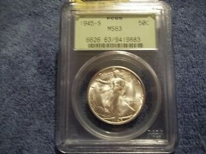 1945-S Walking Liberty Half Dollar PCGS Certified MS63