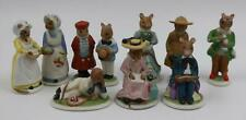 Franklin Mint 1985 The Woodmouse Family Porcelain Figures Figurines Lot of 10
