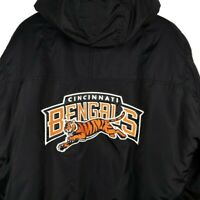 Cincinnati Bengals Starter Jacket Vintage 90s Pullover Winter Puffer Parka Large