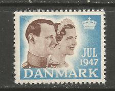 Denmark Christmas 1947 Tuberculosis (TB) charity stamp/seal