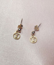 Reworked Authentic Louis Vuitton Charm Earrings 9ct gold Studs