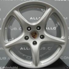 Genuine Porsche 911 997 Carrera 2/2S Classic 5 Spoke 19″ Silver Alloy Wheels X4
