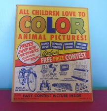Walzer's Coloring Contest 1954 All The Children Love To Color Animal Pictures