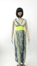 Vintage Hippie Long Dress Maxi Spring Flowers Floral Sleeveless Party 70s