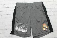 FC Real Madrid Boys Gray / Black Drawstring Athletic Shorts Size M Medium