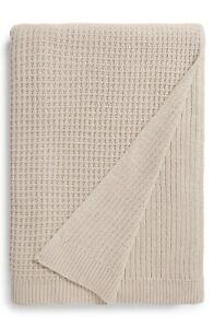 NORDSTROM Reversible Knit Blanket King/Cal King Color Grey Chateau