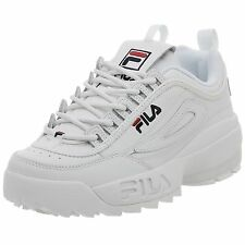 fila new shoes. men fila disruptor ii synthetic fw01655-111 white navy 100% authentic brand new shoes