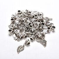 Lots 40pcs Tibetan Silver Delicate Dangle Beads Fit European Charm Bracelet MW