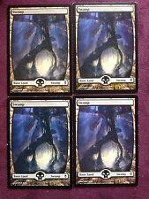 x4  FULL ART Swamp  238  full art land    MTG Magic   (see scan)