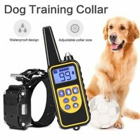Dog Shock Collar W/ Remote Waterproof Electric For Large 880 Yard Pet Training L