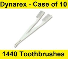 Dynarex 4861 Individually Wrapped Disposable 30 Tuft Adult Toothbrushes CS/1440
