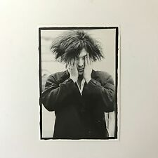 Rare Genuine 1986 The Cure Robert Smith 'Sick of it' B&W Photo Unused Postcard