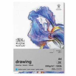 Winsor & Newton Gummed 220gsm Medium Grain Drawing Paper Pad A4