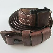 THE BEST GERMAN WW2 MAUSER K98 RIFLE LEATHER SLING MAKERS CODE, WAFFENAMT MARKED