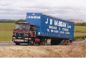 COL PHOTO: J.B. McBEAN FODEN ARTIC CURTAINSIDE TRAILER - OSC 530V