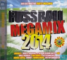 FUSSBALL Party Megamix + 2 CD Set mit 97 Hits im Mix + Stimmung Party Fete WM EM