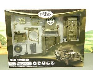 1:35 Kit Testors Quick Build Pre-Painted US ARMY M3A2 HALFTRACK New in Box