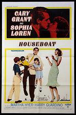 HOUSEBOAT CARY GRANT SOPHIA LOREN 1958 1-SHEET