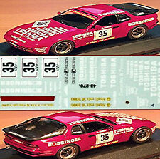 Porsche 944 turbo TOSHIBA 944turbo-Cup 1986 #35 Kurt Thiim 1:43 Decal Abziehbild