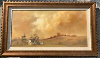 Janet W. Kimberling Oil On Canvas Painting - Hills Of Galena 1974 12 x 24
