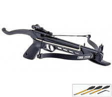 MINI 80 LB HUNTING ARCHERY Gun SELF COCKING PISTOL CROSSBOW W/ BOLTS ARROWS XBOW