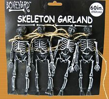 Gothic SKELETON SKULL GARLAND SWAG Halloween Party Decorations Bones Props-BLACK