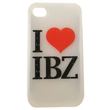 I Love Ibiza iPhone 4 4S Rubber Cover Translucent Silicon Phone Case Soft