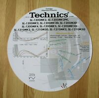 Technics SL-1200 Mk2-Mk5 & SL-1210 series Custom Designed Alignment Protractor