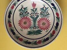 HB Quimper 1940 France  Beautiful Bowl Hand painted Floral Decor