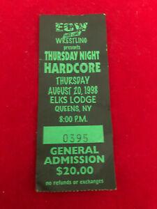 ECW Wrestling Elks Lodge Queens NY August 20 1998 Ticket Stub