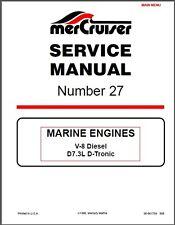 1998-2016 MerCruiser # 27 V-8 Diesel, D7.3L D-Tronic (DI) (LD) Service Manual CD
