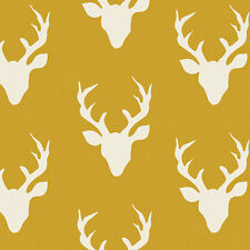 Art Gallery ~ Buck Forest Mustard Fabric / quilting stag deer yellow dressmaking