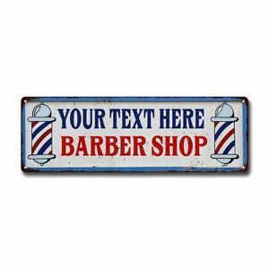 Personalized Barber Shop Sign Hair Salon Metal Retro 106180031001