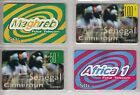 4 TELECARTE / PHONE CARD .. FRANCE PREPAYEE AFRIQUE AFRICA MIX DIFFERENTS A17