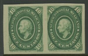MEXICO, MINT, #156a, NG, IMPERF PAIR, CLEAN, SOUND & CENTERED