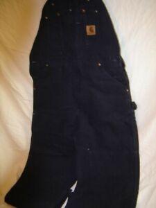 Carhartt R06 MDT Sandstone Bib Men's Overall 36x 32 inch - Black