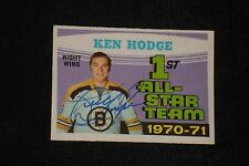 KEN HODGE SR. 1971-72 O-PEE-CHEE SIGNED AUTOGRAPHED CARD #254 BOSTON BRUINS