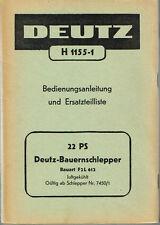 Deutz Bauernschlepper 22 PS F2L612, orig. BA / ETL 50er Jahre