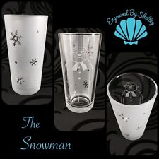 The Snowman Personalised Drinking Glass Unique Christmas Gift! Ice Snowflake ❄️