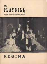 """Jane Pickens (Signed) """"REGINA"""" Marc Blitzstein / William Warfield 1949 Playbill"""