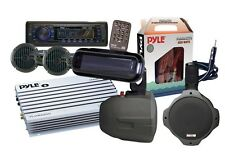"*KIT* Pyle Marine Headunit AM/FM SD AUX w/ AMP, 2 WB Speakers, 4 6.5"" Speakers +"