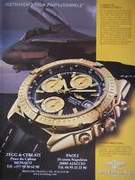 PUBLICITÉ DE PRESSE 2000 MONTRE BREITLING CHRONOMAT AUTOMATIQUE - AVION