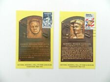 BABE RUTH / ROBERTO CLEMENTE HALL OF FAME POSTCARDS*BOTH STAMPED*VERY RARE*