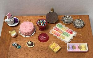 Vintage Artisan LOLA/KAREN Easter Candy Cake Jelly Bean Dollhouse Miniature 1:12