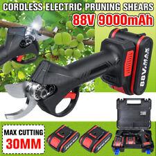 88V Cordless Electric Pruning Shears Secateur Branch Cutter Scissor 1/2