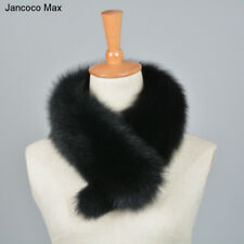 Women Real Fur Short Scarf Collar Shrug Wraps Neck Warmer Clip Wearing New 37204