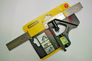 Stanley 2-46-222 Combination Metal Square 300mm (12in)