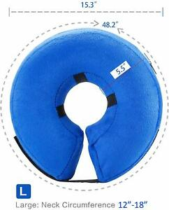 BENCMATE Protective Inflatable Collar for Dogs and Cats - Size L