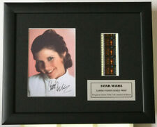 More details for star wars a new hope filmcell carrie fisher princess leia signed reproduction